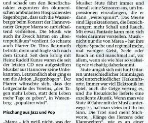 19. Oktober 2011, Heinsberger Zeitung, Marea: vielseitig und vielsaitig