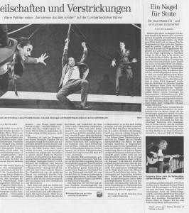 Zeitungsausschnitt Neue Presse Marea CD-Vorstellung im Step by Step Hannover