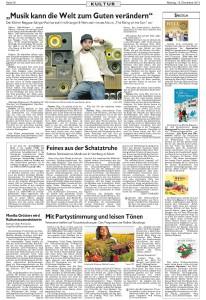 Zeitungsausschnitt Spektrum Nürnberger Nachrichten Marea neue CD Peu à Peu