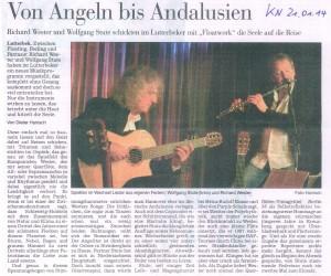 21. Januar 2014, KN: Von Angeln bis Andalusien
