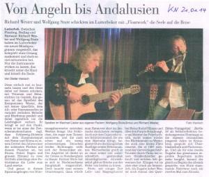Zeitungsausschnitt Von Angeln bis Andalusien