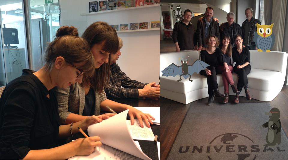 Eule findet den Beat bei Universal Music Berlin